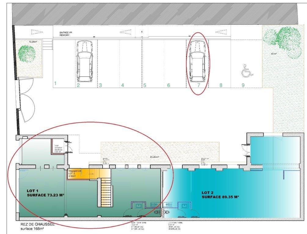 BUREAU - LILLE SAINT-MAURICE - PELLEVOISIN - 73 m2 - RÉALISÉ